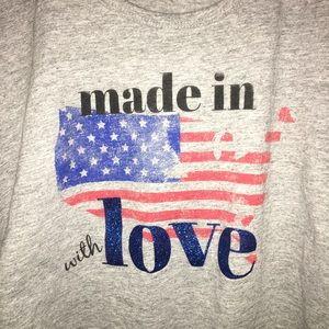 American flag maternity tee made in America love